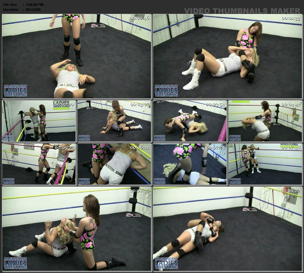 2 mean ladies against 1 sub painful chokeholds - 3 part 8